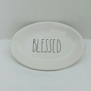 Rae Dunn Blessed Oval Plate